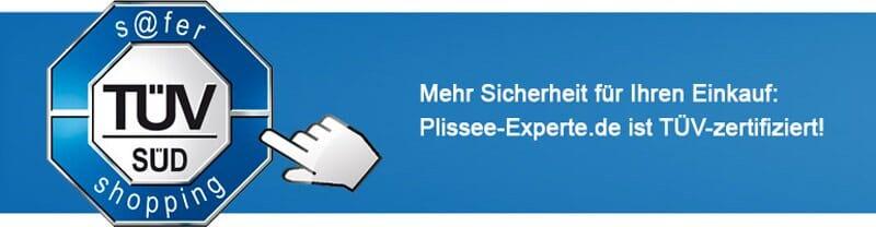 Geprüfte Sicherheit bei Plissee-Experte.de
