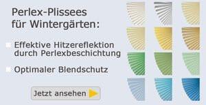 Perlex-Plissees für Wintergärten