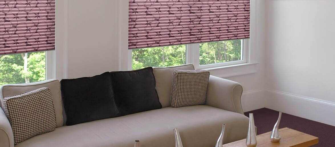 Dekoratives Wohnzimmer Plissee