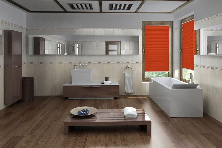 plissee cosiflor luna 4175 in orange plissee. Black Bedroom Furniture Sets. Home Design Ideas