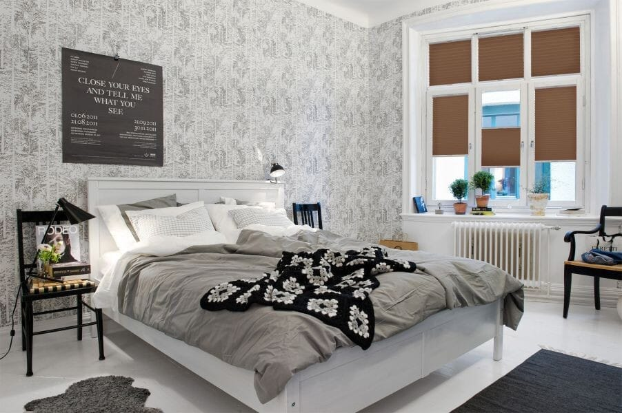plissee cosiflor monza 1117 in braun plissee. Black Bedroom Furniture Sets. Home Design Ideas