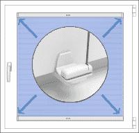 Befestigung am Fensterflügel ohne Bohren mit Klemmträgern