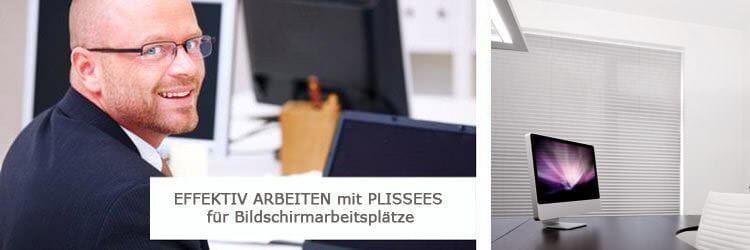 Plissees im Büro