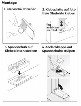 Plissee zum kleben Montage Anleitung