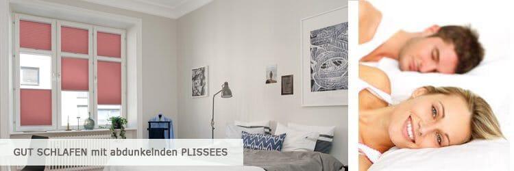 Plissee im Schlafzimmer - besser schlafen mit Sonnenschutz von Plissee Experte