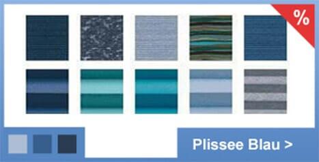 Plissee-Rollo Stoffe (25 unterschiedliche Varianten) blau mit kostenlosem Versand in Deutschland