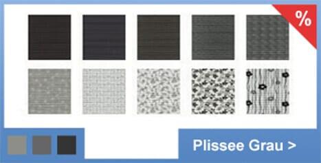 Plisseerollo Stoffe grau mit kostenlosem Versand