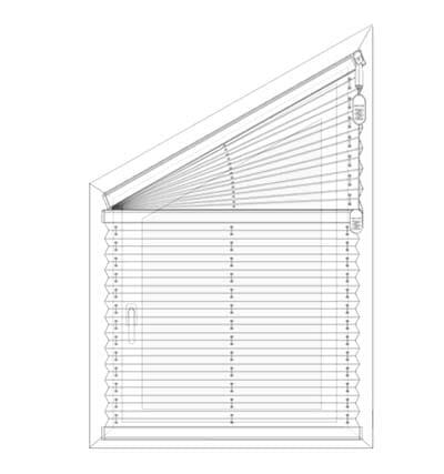 Plissee FS1, FS2 - Messen bei der Montage in der Fensternische