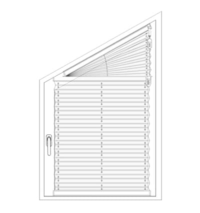 Plissee FS1, FS2 - Messen bei der Montage am Fensterflügel mit Griff mit Klemmträgern