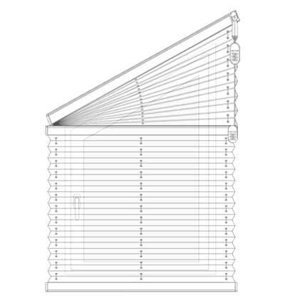 Plissee FS1, FS2 - Messen bei der Montage am Mauerwerk