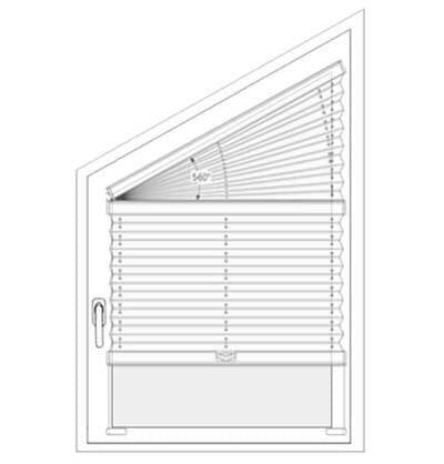 Plissee VS4S1, VS4S2 - Messen bei der Montage am Fensterflügel mit Winkeln