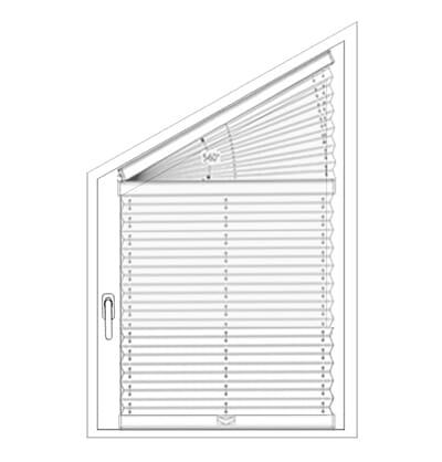Plissee VS4S1, VS4S2 - Messen bei der Montage am Fensterflügel mit Klemmträgern