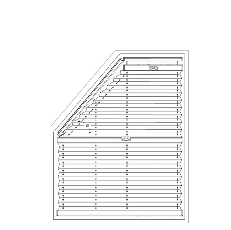Plissee VS5 / VS5SD - Messen bei der Montage am Fensterflügel mit Winkeln